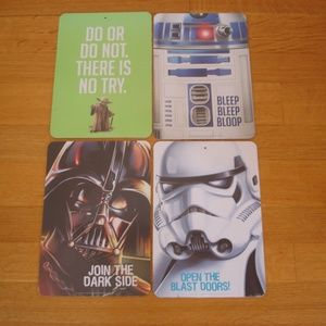 STAR WARS 4 New Two-Sided Wall Signs: Yoda, R2-D2
